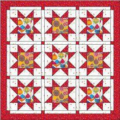 Christmas Quilt Lap Quilt Instant Pattern PDF Star