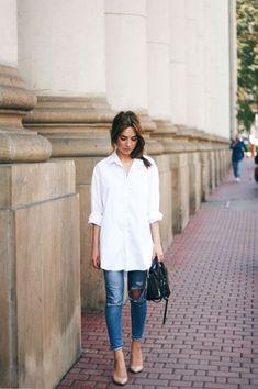efec5601 20 Best Oversized white shirt images | Clothing, Fashionable outfits ...