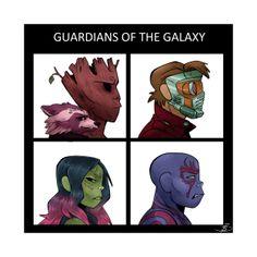 Guardians of the Galaxy Gorillaz T-Shirt