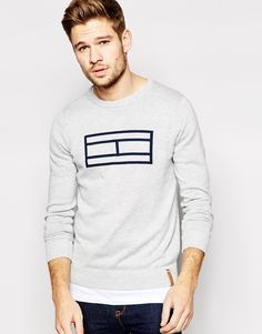Hilfiger Denim Jumper with Tommy Flag Outline