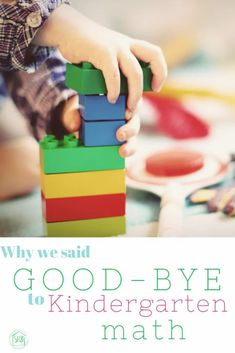 Why we said Goodbye to Kindergarten math #homeschool #kindergarten