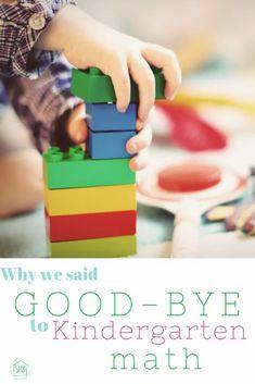 Why we said Goodbye to Kindergarten math #homeschool #kindergarten
