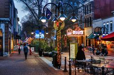 Charlottesville, Virginia - beautiful downtown, home of Monticello and UVA