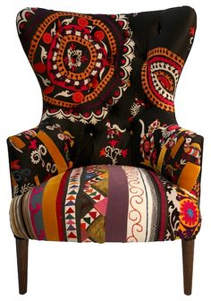 I want to sit in this Apollo Chair & blast off. Love the patterns! #design.