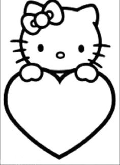 Hello Kitty coloring picture Illustration Design Pinterest