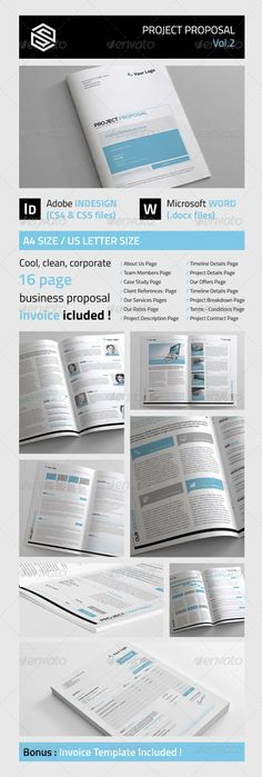 Proposal Template Proposal templates and Invoice layout - professional proposal templates