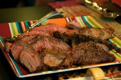 Spice-rubbed Tri-Tip Roast from Recipes Chez Moi.  She says that the spice rub is also delicious on pan fried chicken breasts!