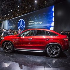 The all-new GLE450 AMG Sport Coupe unveiled at The North American International Auto Show combines two classes of vehicle, the athleticism of a coupe with the brawn of an SUV, into one bold style. #Mercedes #Benz #GLE #GLE450 #AMG #AMGSport #Coupe #SUV #4MATIC #NAIAS #NAIAS2015 #carsofinstagram #germancars #luxury