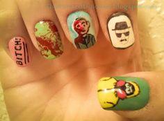 Breaking Bad nail art (right hand)