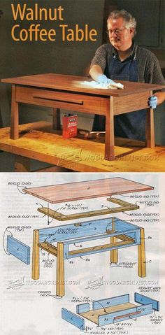 Coffee Table DIY - Furniture Plans and Projects | WoodArchivist.com