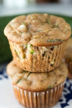 Zucchini Cream Cheese Muffins are perfect for breakfast and back-to-school! This easy recipe uses up leftover zucchini!