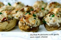 Stuffed Mushrooms with garlic, bacon and cream cheese