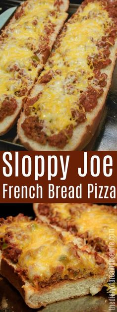 Sloppy Joe French Bread Pizza. This one is a great kid friendly dinner recipe. #sloppyjoe #groundbeef