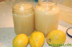 Cada vez que tengo limones del campo, hago este jabón. Deja los platos y vasos con un agradable olor a limón, y además sale barato. Uno de los botes está h