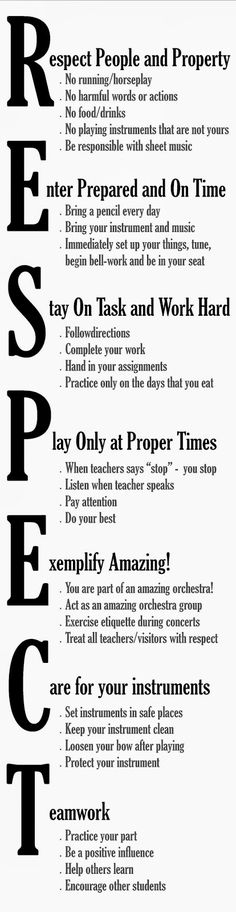 Orchestra Classroom Ideas: Rules for the orchestra classroom