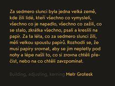 Metr Grotesk long text by Tomas Kopecny