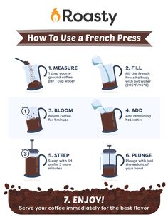 French Press Coffee: A Complete Guide We bet you could be making even better French press coffee than you already are. Find out how, and then check out the best French press coffee makers available right now. Best French Press Coffee, French Coffee, How To French Press, French Press Cold Brew, Bloom Coffee, Coffee Brewing Methods, Brewing Beer, Ways To Make Coffee, Making Coffee
