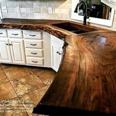 Supreme Kitchen Remodeling Choosing Your New Kitchen Countertops Ideas. Mind Blowing Kitchen Remodeling Choosing Your New Kitchen Countertops Ideas. Farmhouse Kitchen Cabinets, Farmhouse Style Kitchen, New Kitchen, Kitchen Rustic, Awesome Kitchen, Modern Farmhouse, Kitchen Paint, Rustic Kitchens, Wood Counter Tops Kitchen