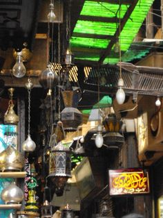 Lanterns at El Fishawy shisha joint, Cairo