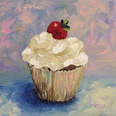 """Cupcake 001"" - Original Fine Art for Sale - © Torrie Smiley"
