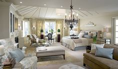 um. bedroom so large it has its own living space...yes please!