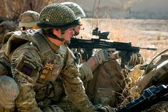 Irish Guards Soldier on Patrol in Afghanistan by Defence Images, via Flickr