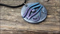The Color Purple - Promo Place Treasury by Nancy Mann on Etsy Pagan Jewelry, Etsy Jewelry, Jewellery, Egyptian Artwork, Eye Of Horus, Egyptian Jewelry, Polymer Clay Projects, Art Plastique, Egypt Eye
