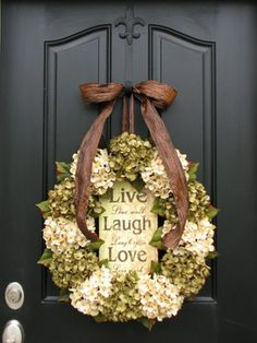 We can't get enough of wreaths that bring color to your front door.