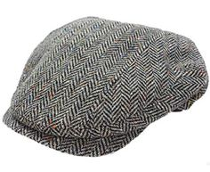 Mucros Tweed Cap Grey Herringbone Quilted Lining Irish Made Review Irish Hat 0569ac26a873