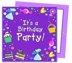 Kids Party : Candy Kids Birthday Party Invitation Template