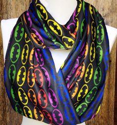 Batman Scarf Batman infinity Scarf Knit Jersey by Phatcatpatch