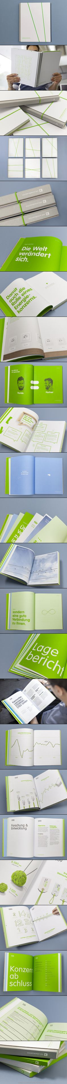 Steiermark Annual Report | by Moodley Brand Identity. Use of single primary colour to unify style