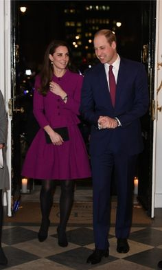 William and Kate (who wore a magenta dress by Oscar de la Renta) arrived at the Guild of Health Writers Conference with Heads Together. Will and Kate, who along with Harry, launched the campaign to merge mental health charities encouraging people to speak out and end the stigma behind mental health issues.