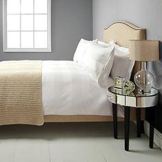 Buy John Lewis Regent Stripe 800 Thread Count Bedding, White Online at johnlewis.com
