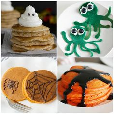 4 Spooky Pancakes that kids will love!