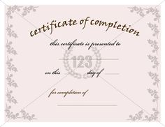 Most valuable Certificate of Completion Template for Free Download #Certificate #Template