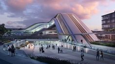 """Zaha Hadid Architects on Instagram: """"#ZahaHadidArchitects working with Esplan (Estonia) have been awarded first place in the design competition for the new terminal of the Rail…"""""""