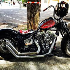 Best Harley Davidson bobber pics Old school - Japan style Softail Bobber, Harley Bobber, Chopper Motorcycle, Bobber Chopper, Custom Bobber, Custom Bikes, Old Motorcycles, Cool Bikes, Motorbikes