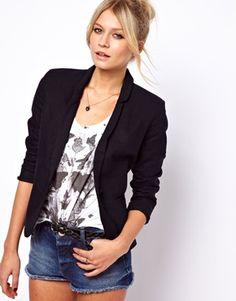 3ca432348cca5 Agrandir ASOS - Blazer ajusté en lin Vêtements De Printemps, Idee Tenue,  Femme,
