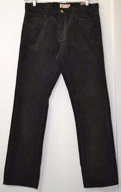 NWT Michael Brandon Men's Slim Fit Corduroy Black Charcoal Pants Size 34 x 32 #MichaelBrandon #Corduroys