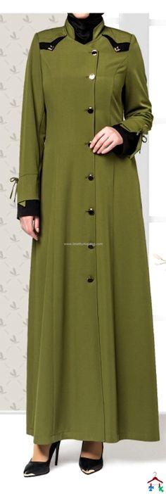 Baharlık Yeşil Pardesü Fashion Details, Duster Coat, Shirt Dress, Sewing, Womens Fashion, Jackets, Shirts, Model, Dresses