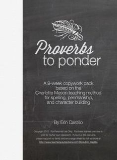A 9-week copy work pack full of 51-pages focuses on Proverbs 3 (as well as other versus from Proverbs on character) and utilizes the Charlotte Mason teaching method for spelling penmanship and character building. #spellingandhandwriting #spelling #and #handwriting Spelling And Handwriting, Improve Handwriting, Teaching Methods, Teaching Resources, Handwriting Analysis, Cold Brew Coffee Maker, Charlotte Mason, Proverbs 3, Penmanship