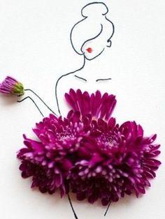 Zum leben erweckt. Papier, Tinte und Blüten