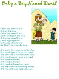 Only a Boy named David lyrics & coloring page