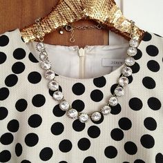 black and white and jewels all over