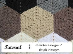 Sechseck häkeln / simple Hexagon