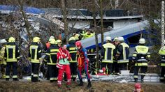 Eight people are dead and 50 seriously injured following a head-on collision between two trains in Germany's southern state of Bavaria, a police spokesman says.
