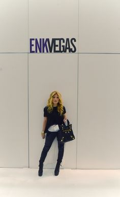 #ootd outfit from the ENK Vegas show black with white tails