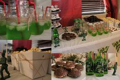 Army men themed baby shower