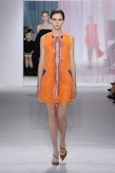 Dior Spring Summer 2013 Ready-to-Wear – Look 30: Embroidered orange organza dress. Discover more on www.dior.com #Dior#PFW